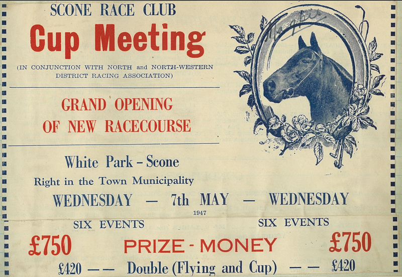 The first race meet was held 7 May, 1947